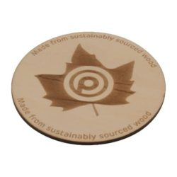 100mm wooden promotional coasters pfn1452