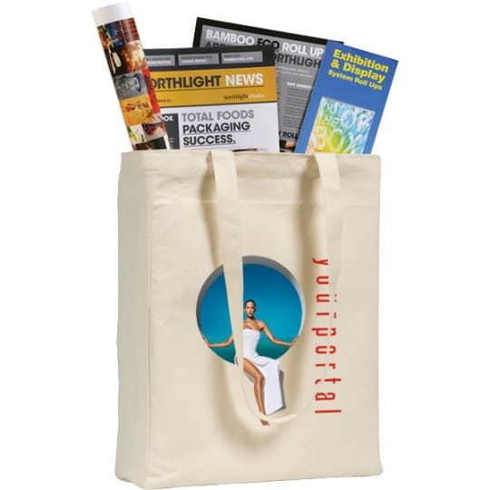 10oz ashburton cotton canvas printed tote bags pfn1571