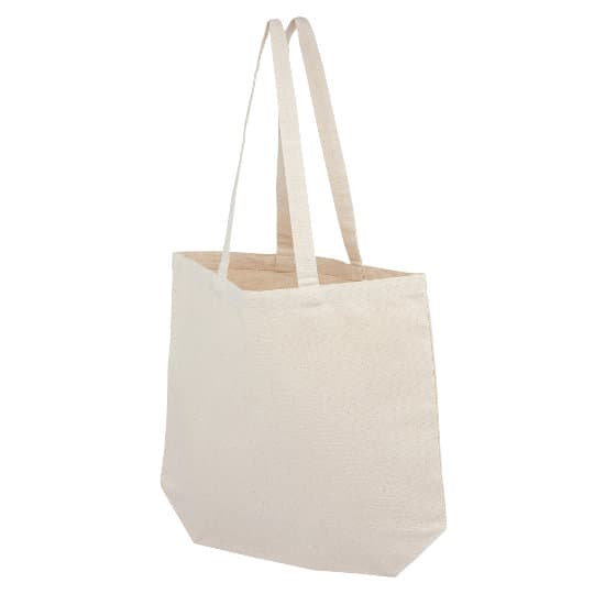 10oz bayswater unbleached cotton canvas printed shoppping bags pfn1162