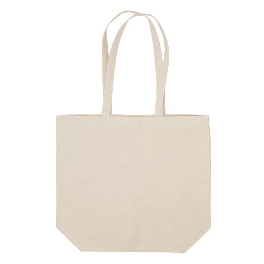 10oz bayswater unbleached cotton canvas promotional shoppping bags pfn1162