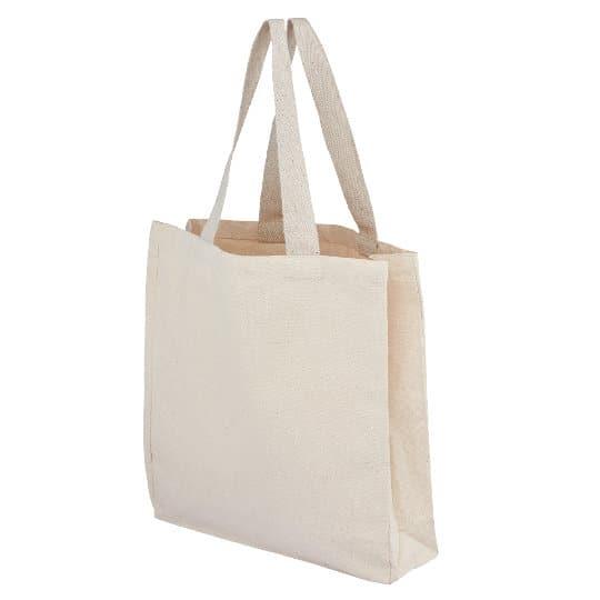 10oz wrexham unbleached cotton canvas printed shopping bags pfn1190