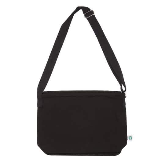 12oz canterbury coloured organic cotton canvas promotional messenger bags pfn1165