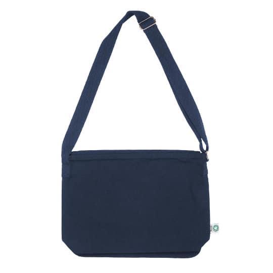12oz canterbury coloured organic cotton canvas branded messenger bags pfn1165
