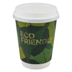 12oz compostable printed coffee cups pfn1194