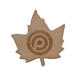 20mm promotional wood badges pfn1382