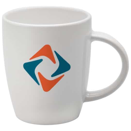 270ml earthenware darwin promotional mugs in white pfn1275
