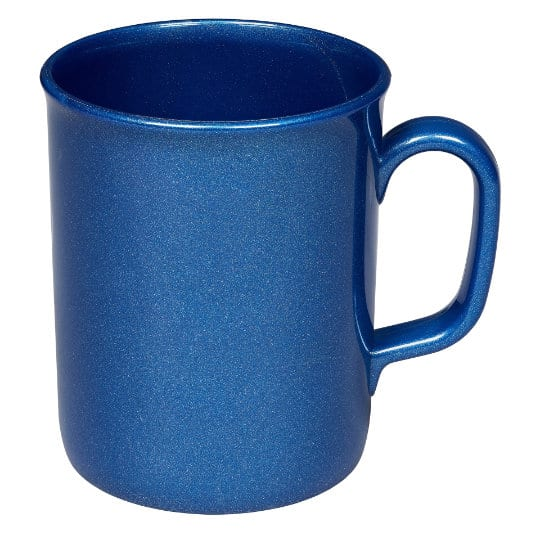 275ml theo recycled printed mugs in blue pfn1201