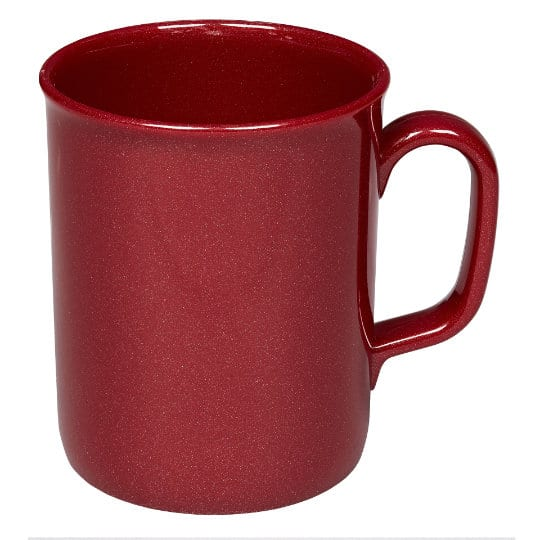 275ml theo recycled printed mugs in red pfn1201