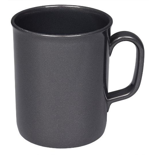 275ml theo recycled printed mugs in black pfn1201
