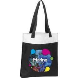 300d polyester deluxe expo printed tote bags pfn1574