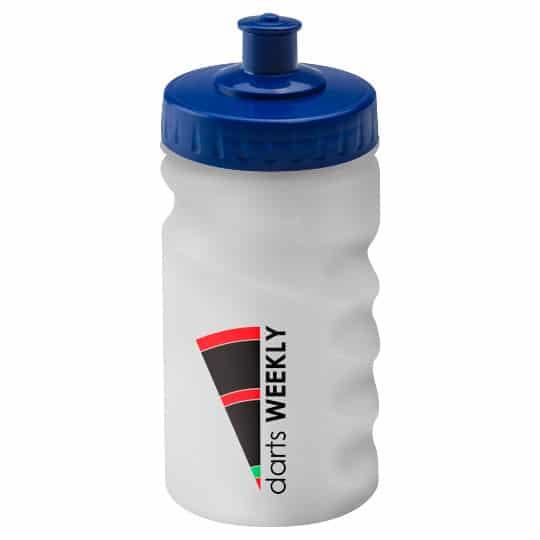 300ml finger grip promotional sports bottles in blue pfn1313