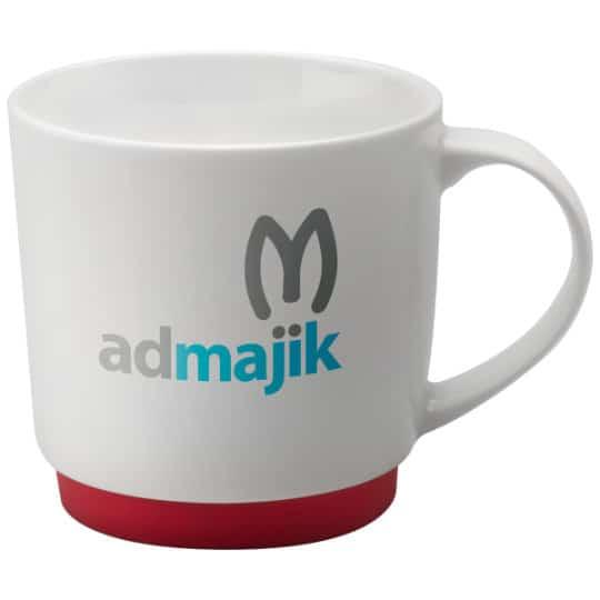 300ml porcelain paris promotional mugs in red pfn1290