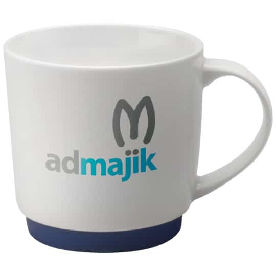 300ml porcelain paris promotional mugs in blue pfn1290