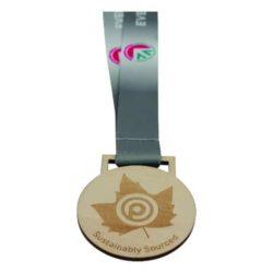 30mm custom wood medal pfn1387