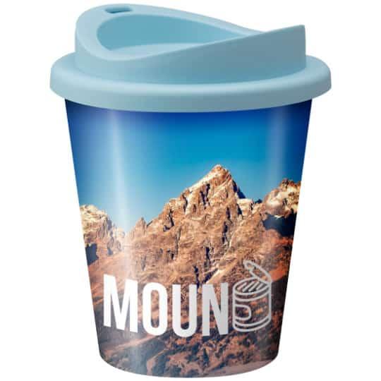 320ml universal vending printed travel mugs in light blue pfn1305
