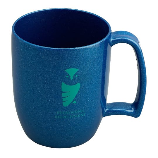 330ml kafo promotional recycled mugs in blue pfn1199