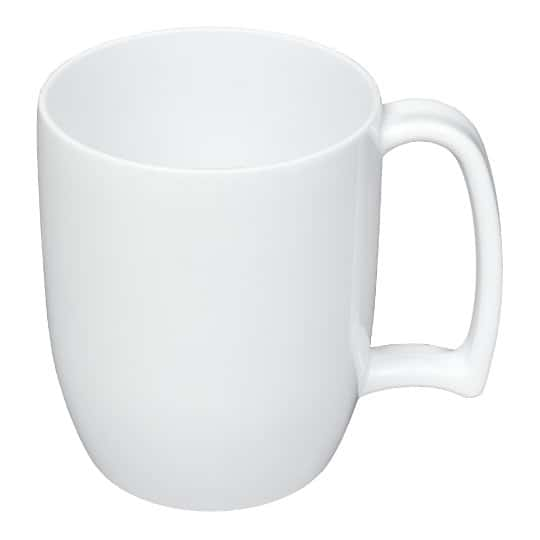 330ml kafo promotional recycled mugs in white pfn1199