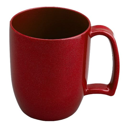 330ml kafo promotional recycled mugs in red pfn1199