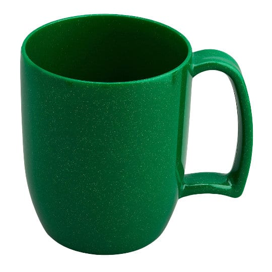 330ml kafo promotional recycled mugs in green pfn1199