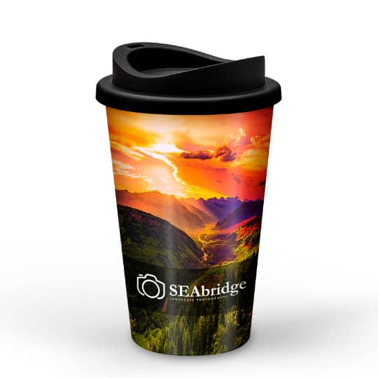350ml universal promotional travel mugs without handle with sip lid pfn1302