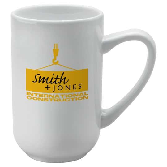 390ml earthenware titan promotional mugs in white pfn1284