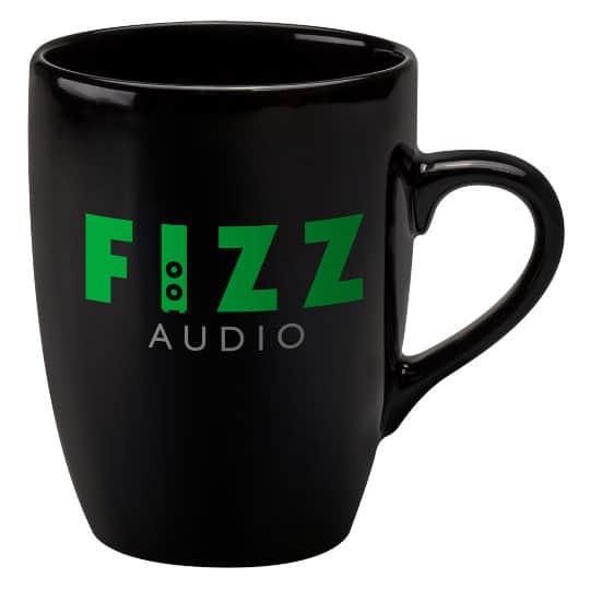 400ml earthenware marrow promotional mugs in black pfn1271