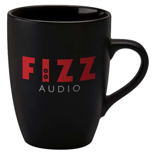 400ml earthenware marrow promotional mugs black pfn1271