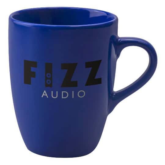 400ml earthenware marrow promotional mugs in blue pfn1271