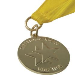 40mm custom stamped iron medal pfn1386