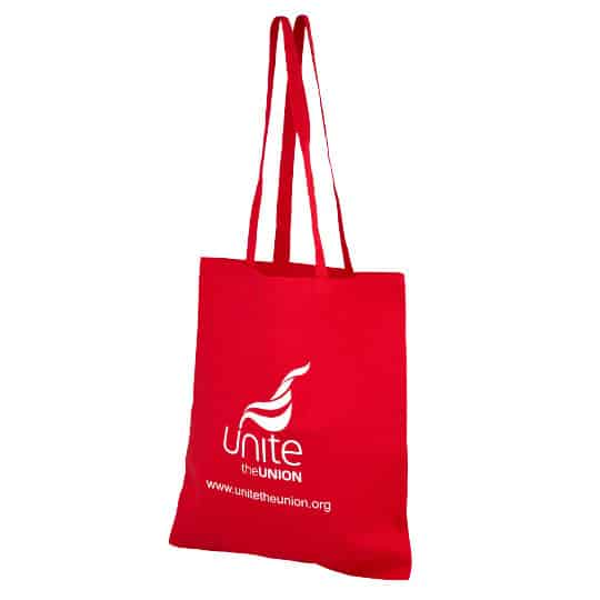 4oz Brixton coloured sustainable cotton promotional shopping bags pfn1163