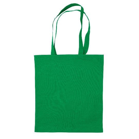 4oz Brixton coloured sustainable cotton promotional shopping bags in green pfn1163
