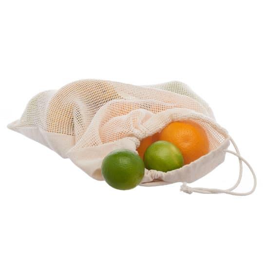 4oz Brockley fairtrade organic cotton printed veg bags filled pfn1185
