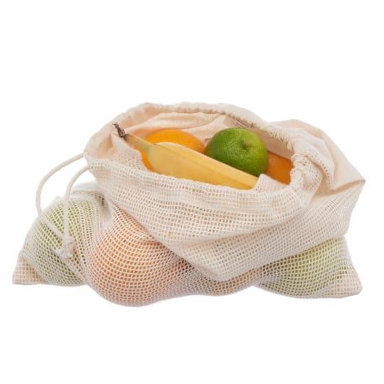 4oz Brockley fairtrade organic cotton promotional veg bags filled pfn1185
