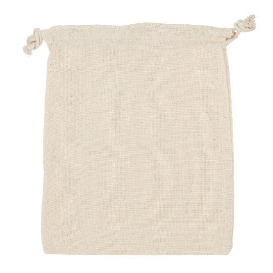4oz large unbleached printed drawstring pouch side view pfn1173