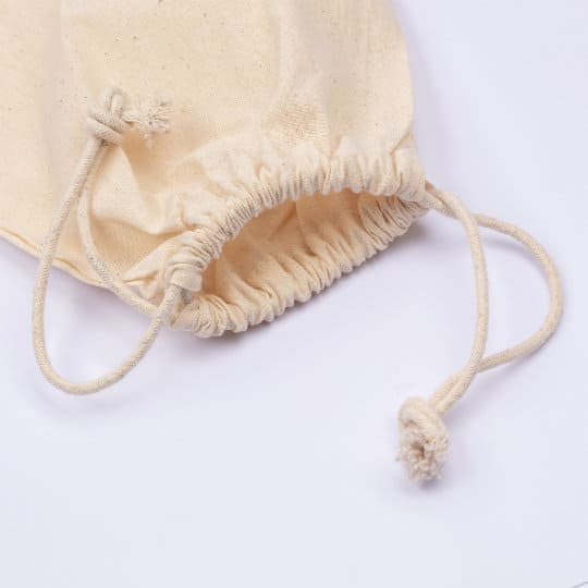4oz large unbleached printed drawstring pouch closed pfn1173