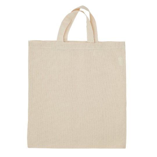 4oz Portobello unbleached printed cotton shopping bags side view pfn1183