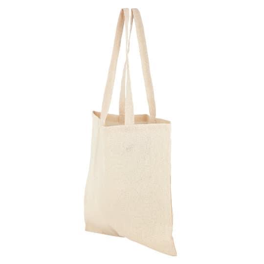 4oz Portobello organic cotton printed shopping bags side view pfn1184