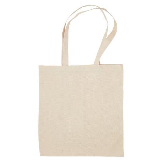 4oz Portobello organic cotton promotional shopping bags side view pfn1184