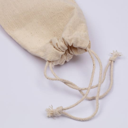 4oz tiny unbleached promotional drawstring pouches pfn1188
