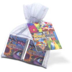 4x neopolitan promotional chocolates in organza bag pfn1547