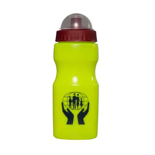 500ml apollo printed sports bottles yellow with cap cover pfn1147