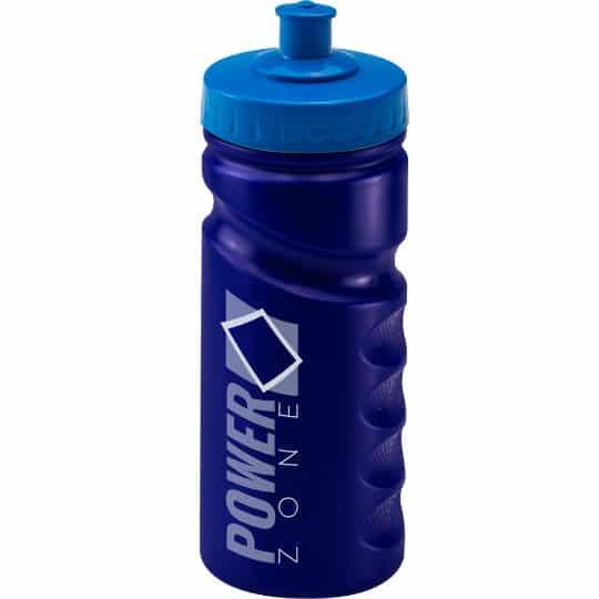 500ml finger grip printed sports bottles in blue pfn1310