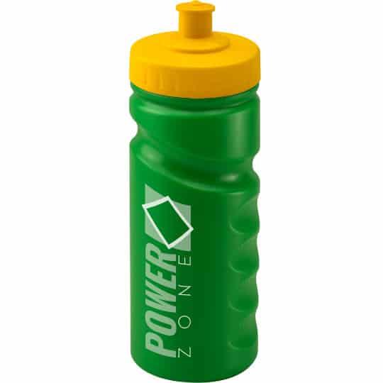 500ml finger grip printed sports bottles in green pfn1310