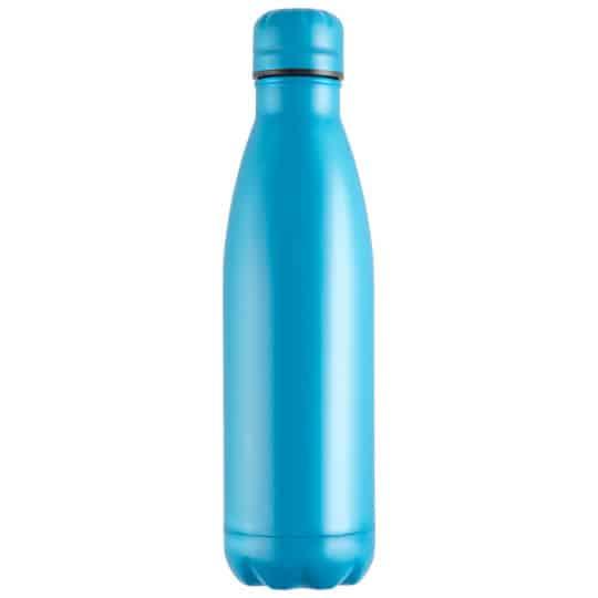 500ml powder coated mood vacuum printed sports bottles in blue pfn1557