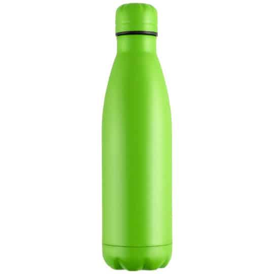 500ml powder coated mood vacuum printed sports bottles in green pfn1557
