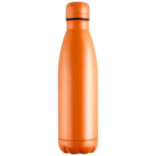 500ml powder coated mood vacuum printed sports bottles in orange pfn1557