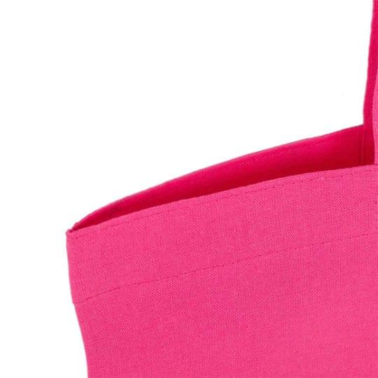 5oz coloured cotton promotional shopping bags stitch detail pfn1106