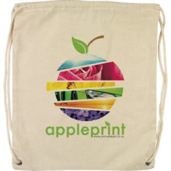 5oz hartley printed cotton drawstring bags pfn1579