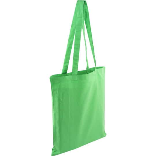5oz Kingsbridge printed cotton tote bags in green pfn1576