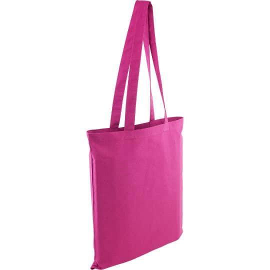 5oz Kingsbridge printed cotton tote bags in pink pfn1576